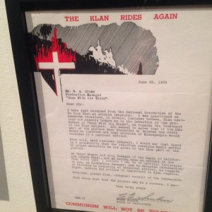 Letter from California KKK to the filmakers....