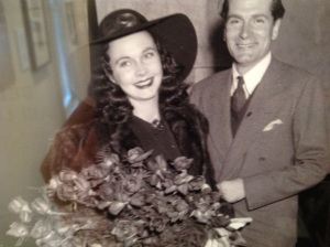 Vivien Leigh and Lawrence Olivier in Atlanta....